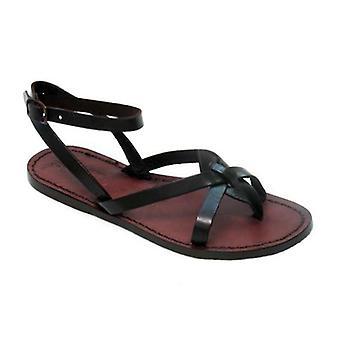Handmade Dark Brown Leather sandals for women