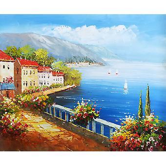Mediterranean, Mediterranean, oil painting on canvas, 50x60 cm