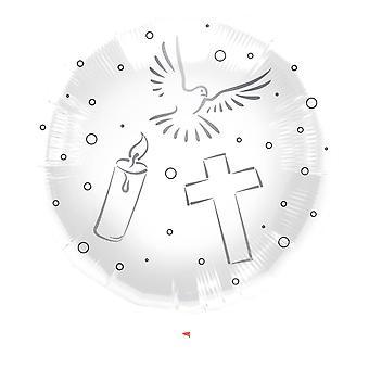 Fellesskap bekreftelse folie ballong 43 cm ballong hvit kirke