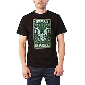 Halo T Shirt Serve UNSC logo new Official Xbox gamer Mens Black