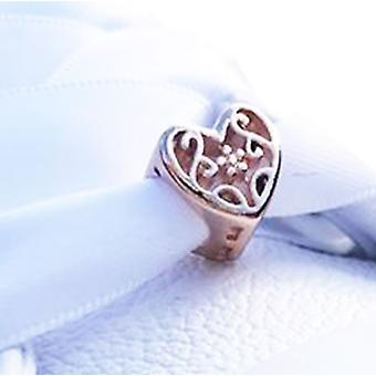 Rose Gold Heart Shoe Charms