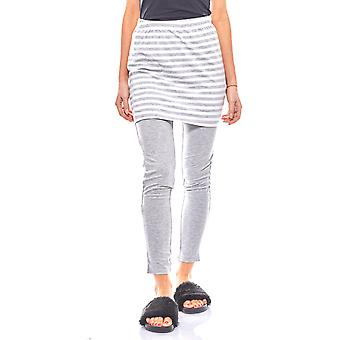 FLASHLIGHTS cosy set of leggings and skirt for ladies grey