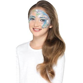 Mythical Kit with 5 Colours Crayon Glitter Stickers Sponge Brush,Facepaint
