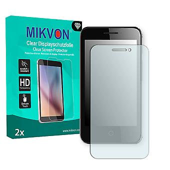 Alcatel OneTouch Pixi 3 4 Zoll Screen Protector - Mikvon Clear (Retail Package with accessories)