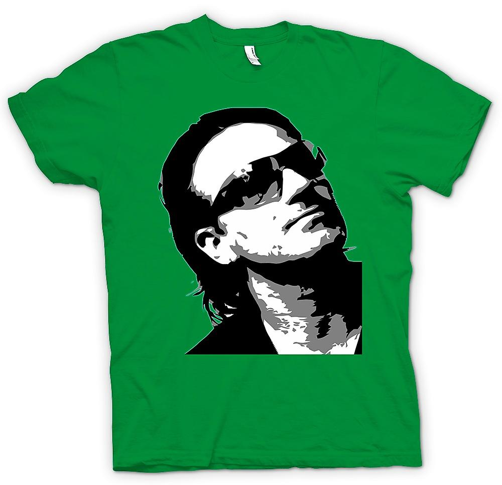 Mens T-shirt - Bono U2 - BW