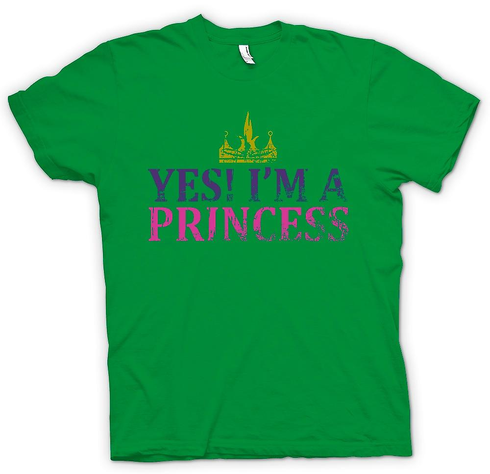 Mens T-shirt - ja Im A Princess - lustig