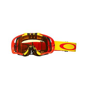 Oakley Pinned-Red-Yellow-Fire Crowbar MX Goggle