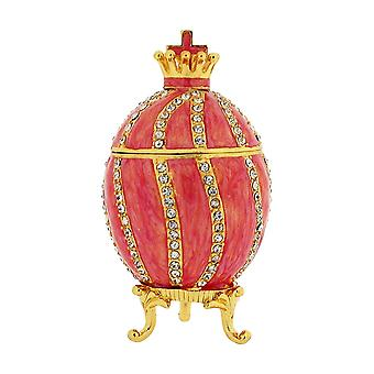 TOC Pink Faberge-Style Egg Trinket Jewellery Box
