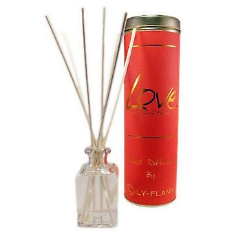 Lily Flame Scented Reed Diffuser - Love