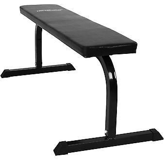 Banc de musculation plat abdominaux haltères sport fitness musculation 0701087