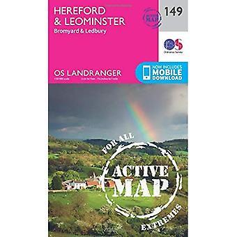 Hereford & Leominster, Bromyard & Ledbury (OS Landranger Map)