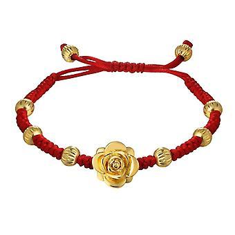 U7 Braided bracelet with Golden Flower
