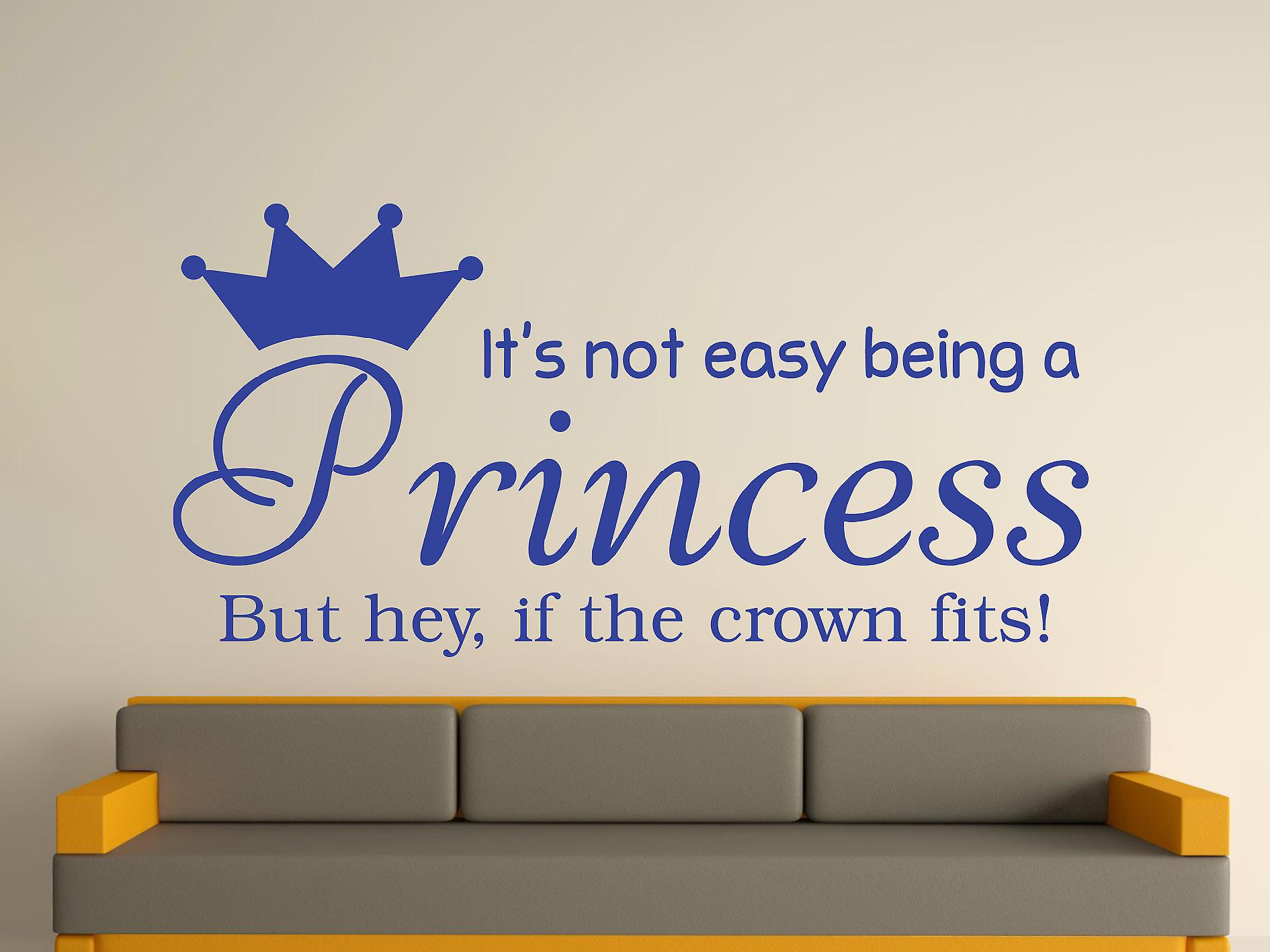 Essere una principessa Wall Art Sticker - blu brillante