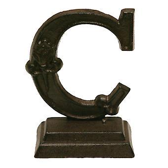 鉄の華やかな立っているモノグラム手紙 C 卓上置物 5 インチ