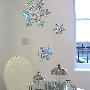 Glitter Snowflakes Wall Stickers