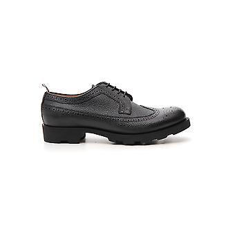 Thom Browne Black Leather Lace-up Shoes