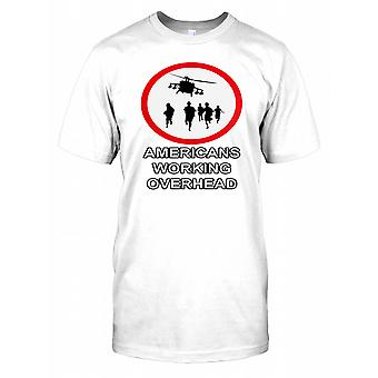 Americans Working Overhead - Banksy Kids T Shirt