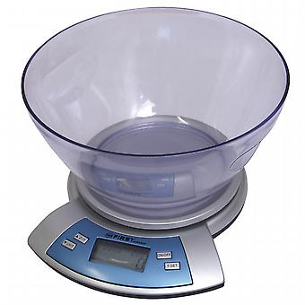 With Bowl digital kitchen scale.