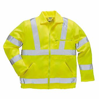 sUw - Hi-Vis Poly-cotton Jacket Yellow XL