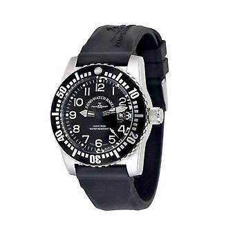 Zeno-watch mens watch airplane diver automatic, black 6349-12-a1