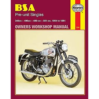 B. S. A. Pre-unit Singles Owner's Workshop Manual by Mansur Darlingto