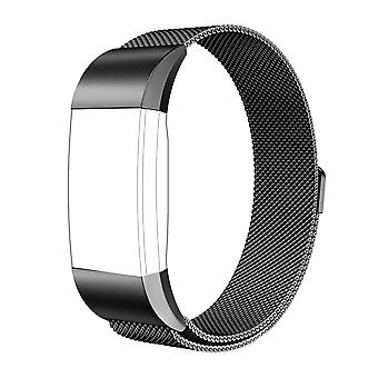 FitBit Charge 2 Bracelet Mesh Milanese Steel Magnetic Clasp - Black