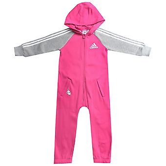 Infant Girls adidas Onesie In Pink- Full Body Suit- Ribbed Cuffs-