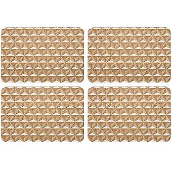 Ladelle Danni White Placemats Set of 4