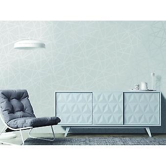 Holden decor Paladium metallic streep geometrische glad modern behang 90111