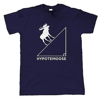 Hypotemoose Herre T-shirt | Matematik problem sum quiz calculus algebra geometri | Moderne kunst design Illustrator artwork kollektion | Giv ham far | Gæstekunstner JG