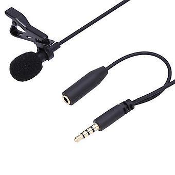 3.5mm  microphone tie clip-on lapel mikrofon microfono mic for mobile phone black