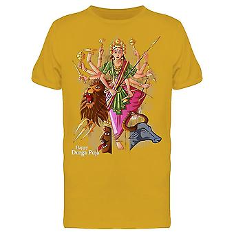 Indian Goddess Durga Puja Tee Men's -Image by Shutterstock