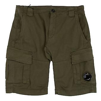 CP companhia bermuda cargo Stretch gabardina shorts Olive 672