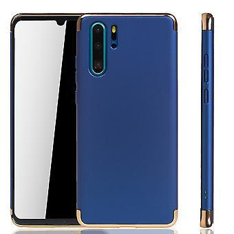 Huawei P30 Pro Handy Hülle Schutz Case Bumper Hard Cover Blau