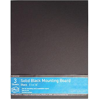 Crescent Solid Black Mounting Board Value Pack 3/Pkg-11