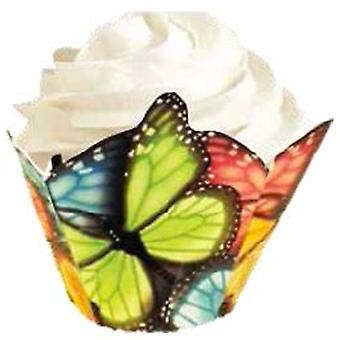 Specialty Baking Cups Multicolor Butterfly 15 Pkg W2172