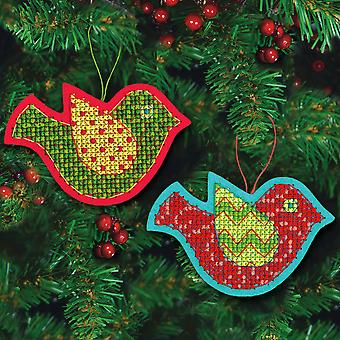 Jolly Bird Ornaments Felt Counted Cross Stitch Kit 5