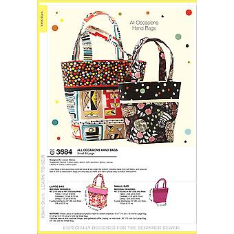 All Occasions Hand Bags  Small & Large Pattern K3684