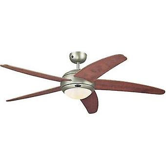 Ceiling fan Westinghouse Bendan in applewood look (Ø) 132 cm Wing colour: Wood Case colour: Tin