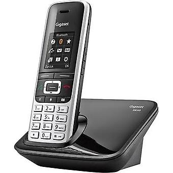 Cordless analogue Gigaset S850 Blutooth, Headset connection Platinum, Black