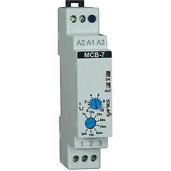 ENTES MCB-7 Time Delay Relay, Timer, 1 8 A CO contact 24 V/AC/DC/230 V/AC IP40