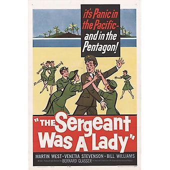 Sergeant var en Lady film affisch Skriv (27 x 40)