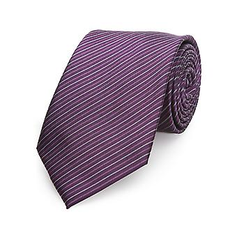 Otto Kern men's necktie silk tie silk purple striped