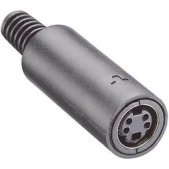 DIN connector Socket, straight Number of pins: 7 Black Lumberg MJ 372/7 1 pc(s)