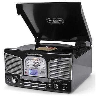Lauson pladespillere cl141 bluetooth cd / usb / fm retro