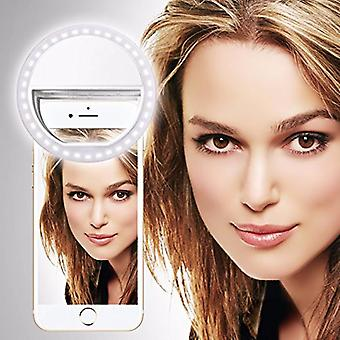 NUBIAZ9 MINI E LITE (White) Clip on Selfie Ring Light with 36 LED For Smart Phone Camera Round Shape, By I-Tronixs