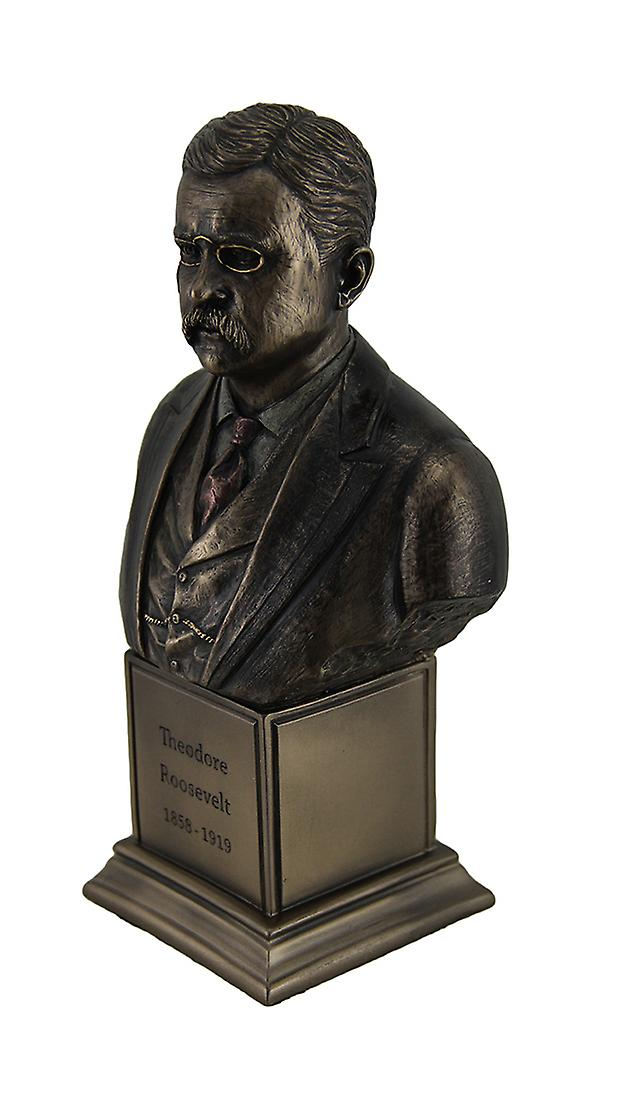 Theodore Roosevelt Bronze Finish Statue On Inscribed Plinth