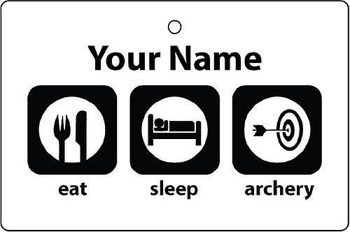 Personalised Eat Sleep Archery Car Air Freshener