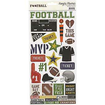 Simple Sets Football Cardstock Stickers 6