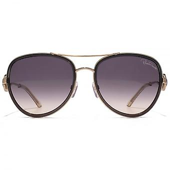 Roberto Cavalli Wezen Pilot Sunglasses In Shiny Light Bronze